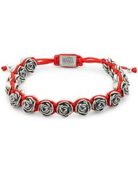 King Baby Studio Macrame Rose Bracelet - Red