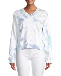 Hard Tail Tie-dyed Cotton Sweatshirt - Blue