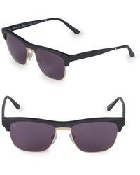 Smoke X Mirrors Women's 53mm Uncle Albert Rectangular Sunglasses - Matte Black - Multicolor