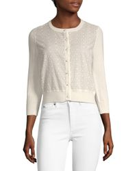 Karl Lagerfeld - Lace Buttoned Cardigan - Lyst