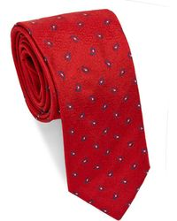 Brioni - Mini Paisley Dot Repeat Silk Tie - Lyst