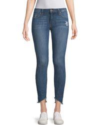Joe's Jeans Icon Blondie Hem Ankle Jeans - Blue