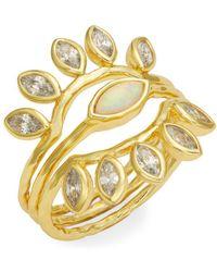 Gorjana - Rumi Burst Stackable Ring Set - Lyst