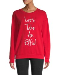 South Parade Elfie Cotton Sweatshirt - Red