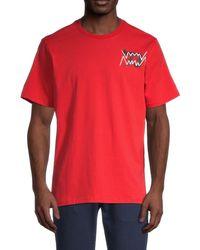PUMA Men's Parquet Street Graphic T-shirt - Red - Size Xxl