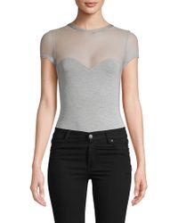 Felina Illusion Heathered Bodysuit - Gray