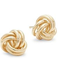 Saks Fifth Avenue - 14k Yellow Gold Round Loops Earrings - Lyst