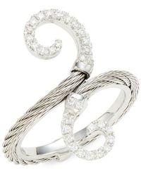 Alor Women's 18k White Gold, Stainless Steel & Diamond Ring - Size 6.5 - Multicolour