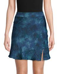 Free People Women's Martine Flirt Skirt - Navy Combo - Size 6 - Blue