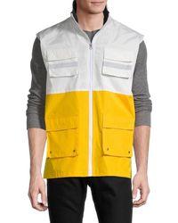 American Stitch - Men's Colorblock Full-zip Utility Vest - Yellow - Size S - Lyst