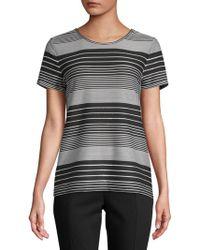 Calvin Klein - Striped Short-sleeve Tee - Lyst