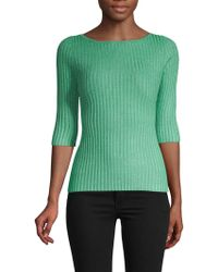 525 America Three-quarter Sleeve Ribbed Pullover - Green