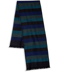 Missoni Printed Stripe Scarf - Blue