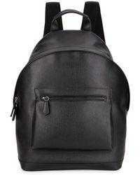 Saks Fifth Avenue Leather Backpack - Black