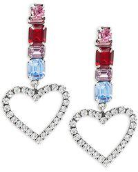 DANNIJO Sparkle Heart Earrings - Multicolour