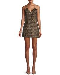 Balmain Sequin-checked Mini Dress - Multicolour