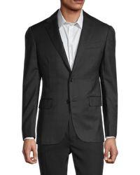 Pal Zileri Men's Textured Standard-fit Jacket - Black - Size 50 (40)