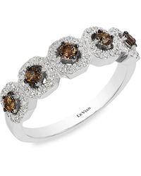 Le Vian Chocolatier® 14k Vanilla Goldtm, Chocolate Diamond® & Vanilla Diamond® Ring - Multicolor