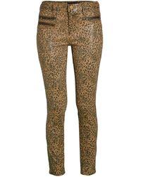 Etienne Marcel Women's Leopard Skinny Jeans - Camel Tan - Size 25 (2) - Multicolour