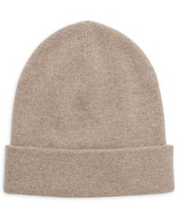 Carolina Amato Chessy Cashmere Beanie Hat - Multicolour