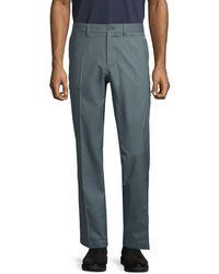 J.Lindeberg Flat-front Dress Pants - Blue