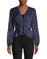 BCBGeneration - Long-sleeve Twist-front Top - Lyst