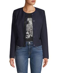 Karl Lagerfeld Tweed Jacket - Blue