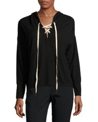 Project Social T - Heathered Crisscross-front Hoodie - Lyst