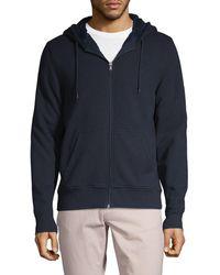 Michael Kors Faux Fur-lined Full-zip Hoodie - Blue