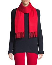 Saks Fifth Avenue Solid Cashmere Scarf - Red