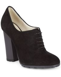 Giorgio Armani - Oxford Suede Booties - Lyst