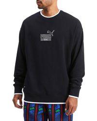 PUMA - Men's King Logo Stretch-cotton Sweatshirt - Black - Size L - Lyst