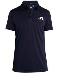 J.Lindeberg Tour Tech Regular-fit Golf Polo - Blue