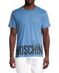 Moschino ! Graphic Logo T-shirt - Blue