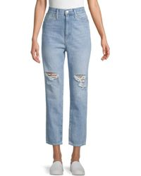 Madewell High-rise Distressed Mom Jeans - Blue
