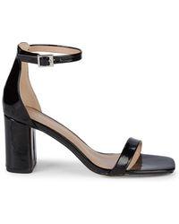 d10926fce852 Lyst - Ferragamo Pumps Talia High Heel Peep Toe Platform in Black