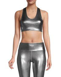 Electric Yoga Limitless Shine Sports Bra - Metallic