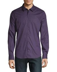 John Varvatos - Dotted Cotton Button-down Shirt - Lyst