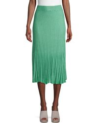 525 America Pleated Stretch Skirt - Natural