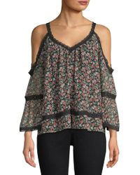 0fc9fdd3be4368 Lyst - Alice + Olivia Maurice Lace-up Top in Black