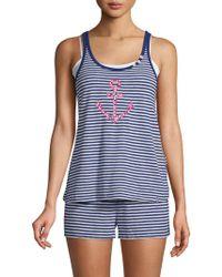 Jane And Bleecker - Two-piece Stripe Pyjama Set - Lyst