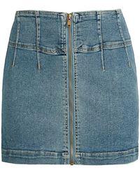 Free People Virgo Denim Mini Skirt - Blue
