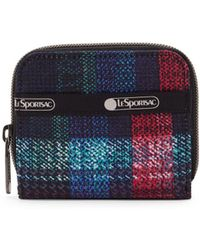 LeSportsac - Woven Tartan Logo Zip-around Wallet - Lyst