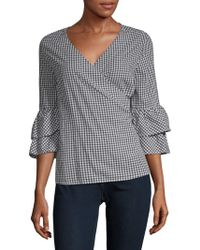 Beach Lunch Lounge - Wrap Cotton Top - Lyst