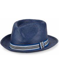 Original Penguin Basket-weave Fedora - Blue