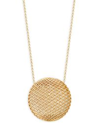 Roberto Coin 18k Yellow Gold & Ruby Round Pendant Necklace - Metallic