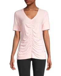 Tommy Hilfiger Ruched-front Top - Pink