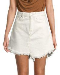 Free People Women's Denim Mini Skirt - Coconut - Size 24 (0) - Multicolor