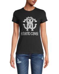 Roberto Cavalli Rc Logo T-shirt - Black