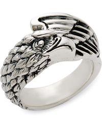 King Baby Studio Sterling Silver Eagle Ring - Metallic